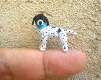 Mini English Pointer - Tiny Crochet Dog Stuffed Animals - Made To Order
