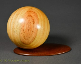 Sauron Sphere of contentment. Sugar pine with bloodwood base.