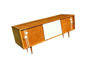 Mid Century Media Console Tv Stand 60 Vented By Orwadesigns