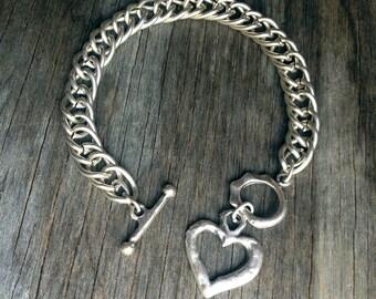 My own Heart link bracelet