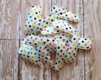 Padded Hair Clip Covers Set of 20 |  Polka Dot 55mm Hair Clip Cover