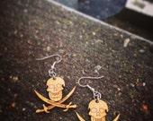 Natural Jolly Roger Earrings
