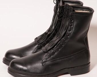 Black  Jungle Boots Zip Front Men's Size 11 E