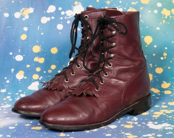 JUSTIN Women's Lacer Boots Size 7 B