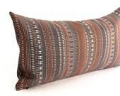 Lumbar Pillow Cover Brown Orange Grey Modern Stripe Upholstery Decorative Oblong Accent Throw Pillow Cover 12x24 12x21 12x18 12x16 10x20