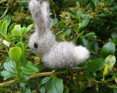 Grey Rabbit - Needlefelted little woolly rabbit or Easter Bunny, for Easter, Spring or someone fond of rabbits.