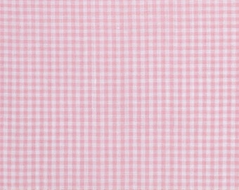 Pink Gingham Check Wide Fabric Spechler Vogel Fabrics