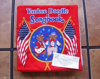 Yankee Doodle Songbook Quiet Soft Cloth Baby Toddler Story Book Handmade Ready to Read