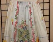 Vintage Linen Dress    size 6x/7