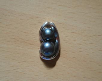 New Genuine 8mm AA+ Black Freshwater Cultured Pearl Pendant