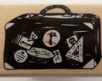 Hero Arts Suitcase Travel Luggage A2522 Wooden Rubber Stamp