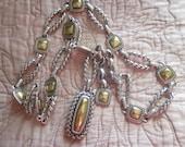 brighton chain link belt, gorgeous belt, metal belt,,