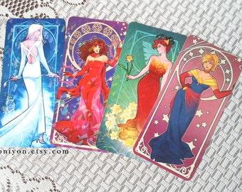 Nouveau Superladies Bookmarks Captain Marvel Phoenix Scarlet Witch White Queen