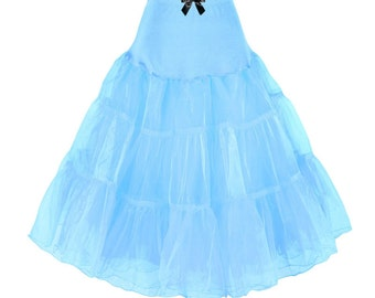 PLUs SIZe Petticoat, ANy Size, LOTS OF COLOURS available, 25inches Long