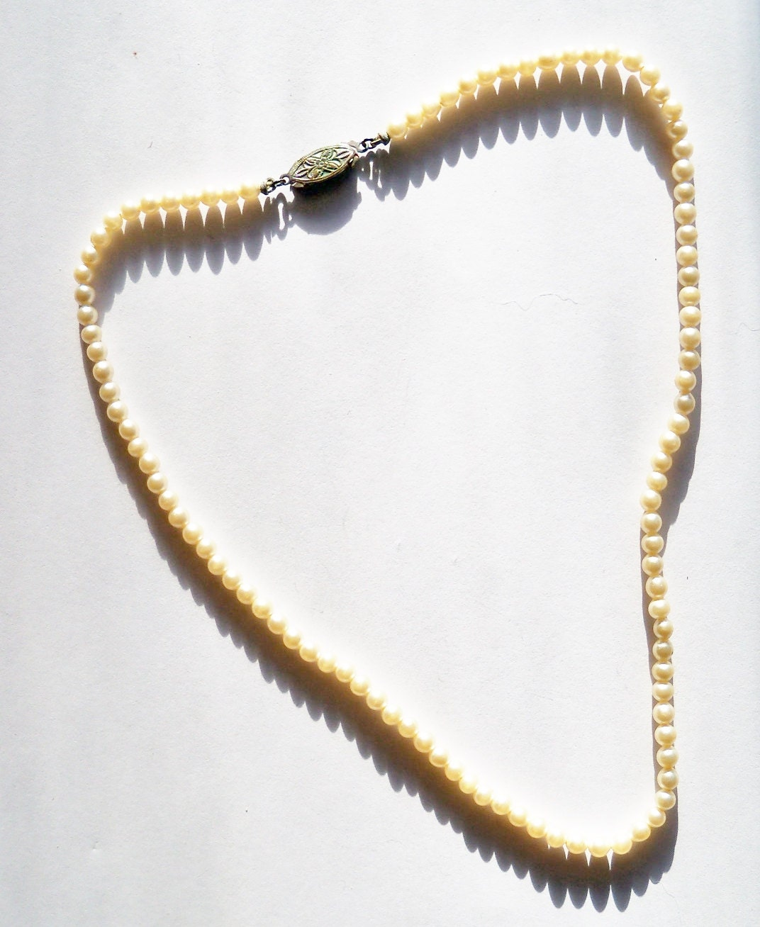 Vintage Pearl Choker Necklace: Pearl Necklace Vintage Choker-Length Wedding Junior Attendant