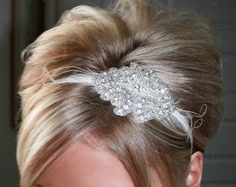 ON SALE Bridal Rhinestone Headband, Bridal Headpiece, Rhinestone Headband, Bridal Headband