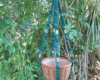 Forest 37 1/2 Inch Beads Macrame Plant Hanger