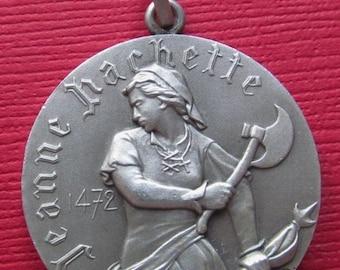 On Sale Jeanne Hachette Silver Art Medal Pendant Beauvais Cathédrale Saint Pierre Paris Mint Medal