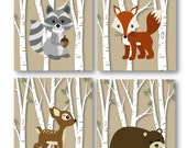Woodland Nursery // Woodland Art Prints // Forest Animals Art // Forest Animal Nursery // Animal Wall Art // Woodland Decor // PRINTS ONLY