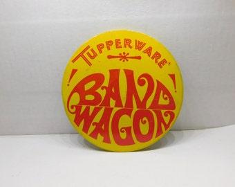 1960's 70's Vintage Tupperware Salesperson Representative Band Wagon Pin Pinback  DR11