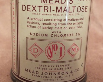 Mead's Dextri-Malrose Physician's Sample Tin Baby Formula