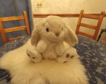 Sale Large  white stuffed toy,plush rabbit bunny Cute!  Mint .gift.Well cared.Puffy.Children