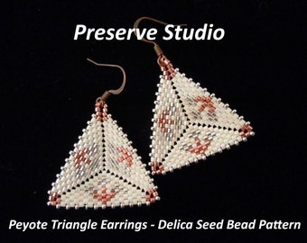 Flowers Peyote Triangle Delica Seed Bead Pattern #1