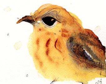 12 x 12 Bird Art, Yellow Warbler, Bird Art Print