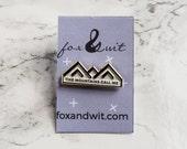 Mountain Enamel Pin. Lapel Pins. Pin Flare
