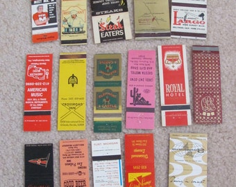 Lot of 16 Assorted Vintage Matchbook Matches Covers (#1)