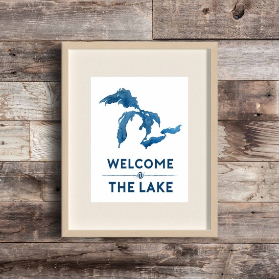 Lake House Love In Michigan: Items Similar To Welcome To The Lake