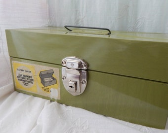 Vintage Industrial Metal Box, Safety Chest