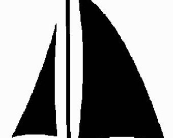 Machine Embroidery Design -  Sailboat Setof Small, Medium, Large for the 4x4 Hoop
