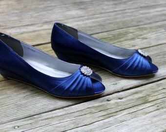 Blue Wedding Shoes wedge -- 1 wedge heels