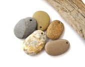 Beach Stone Pendants Mediterranean River Stone Pendants Top Drilled Natural Stones DIY Jewelry Findings Pebble Beads PENDANT LOT 33-35 mm