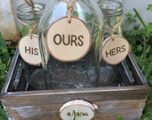 Custom Rustic Milk Jar Sand Ceremony Set Country Barnyard Rustic Farmhouse Wedding Sand Ceremony