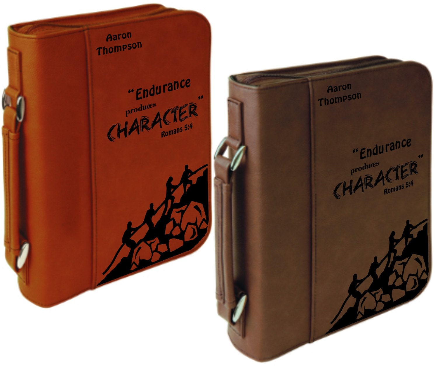 Bible Covers: Personalized Design Faux Leather Bible Case Laser Etched