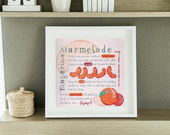 Cross Stitch Chart Tangerine Marmalade by Lilipoints