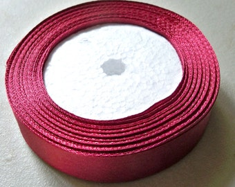 "Red Wine Satin Ribbon-20mm-7/8""-5 YDS"