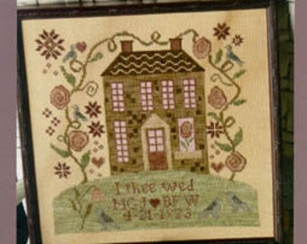 I Thee Wed : Blackbird Designs counted cross stitch patterns Remember Me series hand embroidery