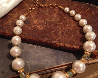 Repurposed Faux Pearl Choker
