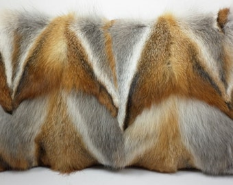 Natural Red Fox sections Pillow