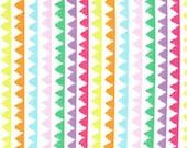 Michael Miller Fabric - Zipper Stripe in Brite - By The Yard