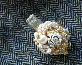 Jeweled Hair Clip//One of a Kind Hair Clip