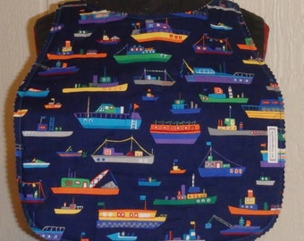 Workboats & Sharks Reversible Adult Bib, Gifts for Dad, Fathers Day