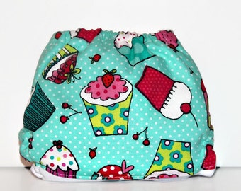 Large Cupcake Dot One Size Pocket Diaper,One Size Cloth Diaper, Pocket Cloth Diaper, Cloth Nappy, Reusable Cloth Diaper, Diaper Cover