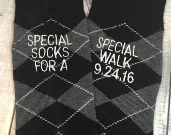 Groom Socks - Father of the Bride Socks - Groom Gift - Special Socks - Black - Wedding Socks - Groomsmen Gift - Wedding Party Gift - Black