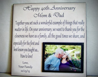 Anniversary Gift for Parents, Mom & Dad Anniversary, Personalized Anniversary Picture Frame, 12x12 Anniversary Gift Idea for Parents