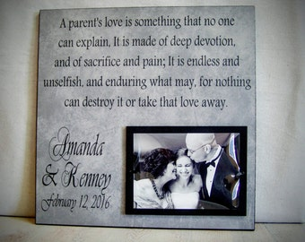 Wedding Gift for Parents, Father of the Bride, Mother of the Bride, Parents of the Groom Gift, Mother of the Groom Gift, Personalized Frame