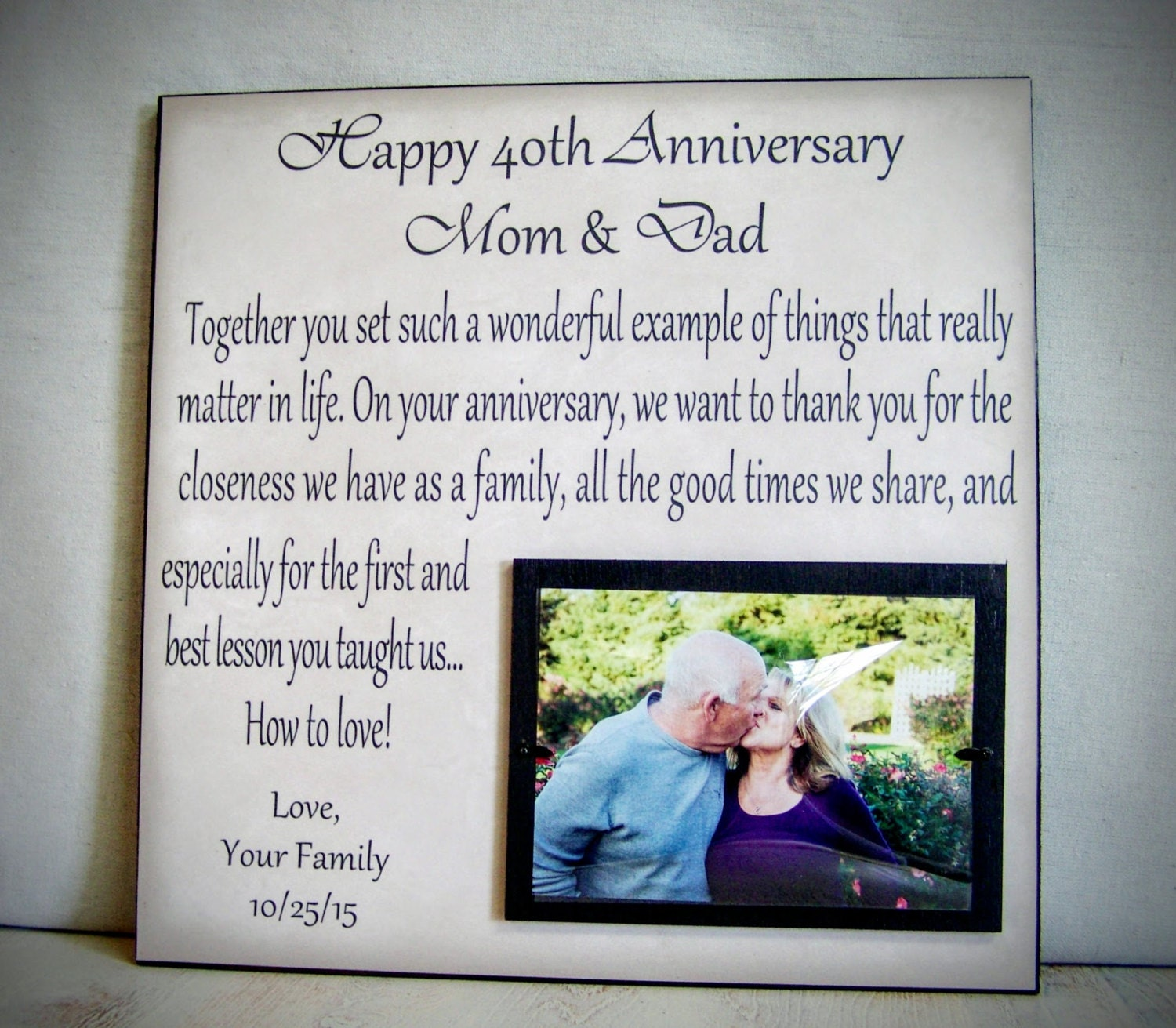 Wedding Gift For Mom And Dad : Anniversary Gift for Parents Mom & Dad Anniversary